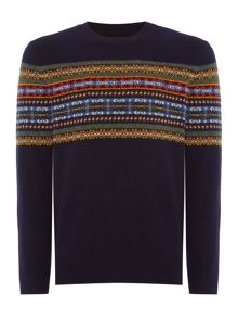 Howick Woodstock Fair Isle Crew Neck Jumper