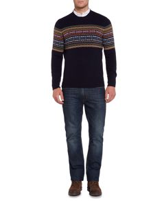 Howick Woodstock Fairisle Crew Neck Jumper