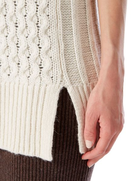 Linea Limited cable knitted tunic with alpaca