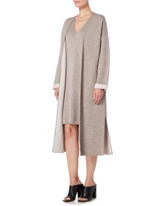 Linea Limited wool rich longline double face cardigan