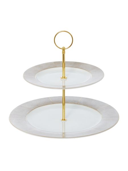 Casa Couture Luxe 2 tiered cake stand