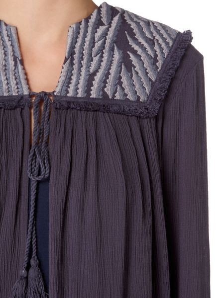 Maison De Nimes Embroidered Yoke Cover Up