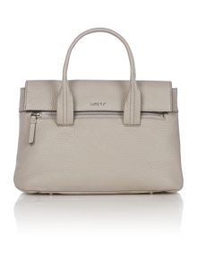 DKNY Tribeca grey flapover tote bag