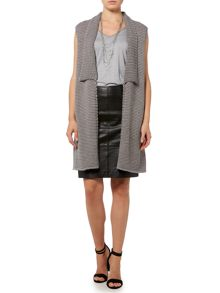 Gray & Willow Leif leather skirt with zips