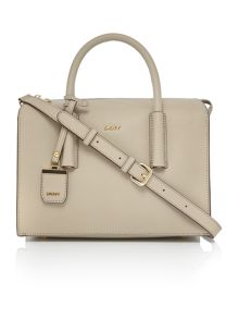 DKNY Saffiano neutral tote crossbody bag