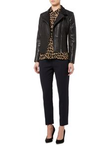 Max Mara Angizia zip up leather jacket