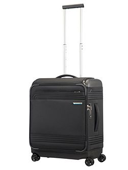 Smarttop black 8 wheel 56cm cabin suitcase