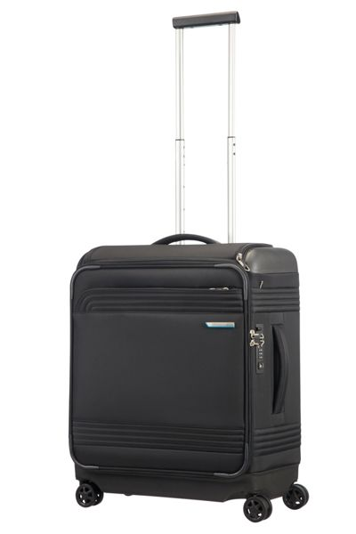 Samsonite Smarttop black 8 wheel 56cm cabin suitcase