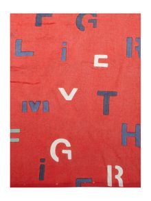 Tommy Hilfiger Mixed text scarf