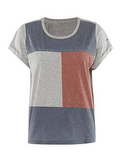 Ashleigh flag short sleeve pyjama top