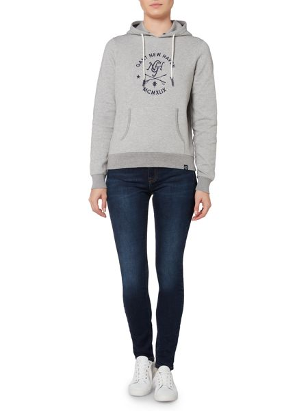Gant Sporty Logo Hooded Sweatshirt