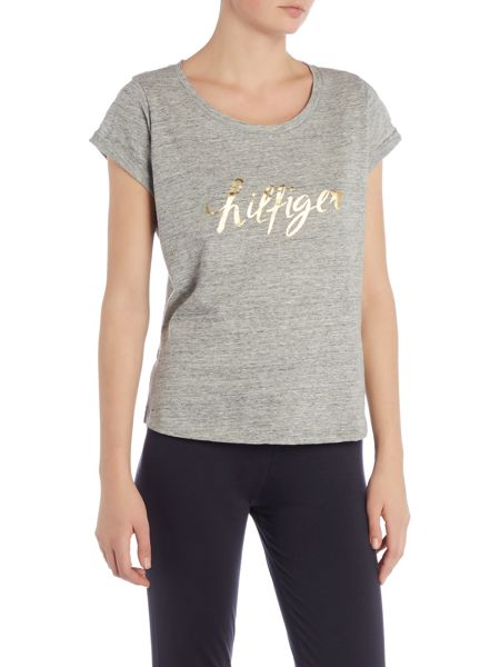 Tommy Hilfiger Ashleigh gold short sleeve pyjama top