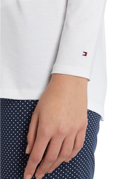 Tommy Hilfiger Iconic cotton long sleeve pj set