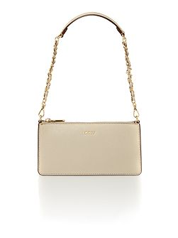 Saffiano neu small flapover chain crossbody bag