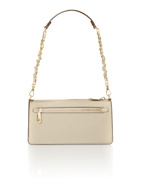 DKNY Saffiano neu small flapover chain crossbody bag