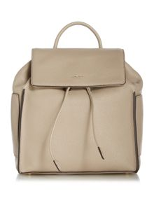 DKNY Chelesea neutral medium flapover backpack