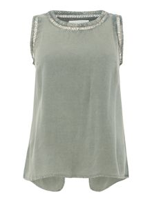 Maison De Nimes Wrap Back Sleeveless Blouse
