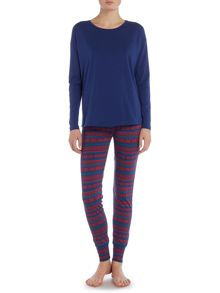 Tommy Hilfiger Holiday iconic long sleeve pj set