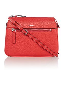 Tribeca zip red crossbody