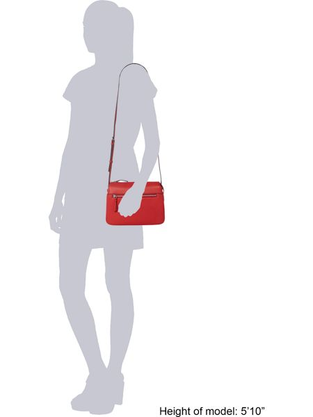 DKNY Tribeca zip red crossbody