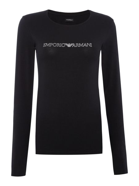 Emporio Armani Visibility stretch long sleeve t-shirt