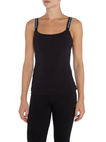 Emporio Armani Visibility stretch cotton vest top