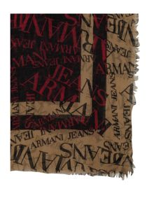 Armani Jeans All over logo scarf