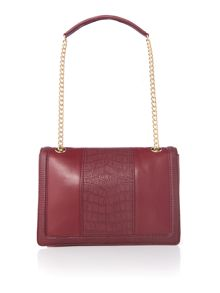 Love Moschino Moc croc red medium flapover shoulder bag