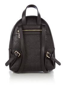 Love Moschino Love stitching black backpack
