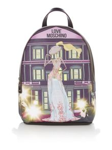 Love Moschino Charming girls print backpack