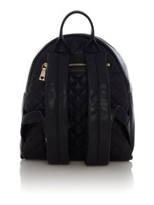 Love Moschino Patchwork quilt black backpack