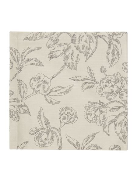 Linea Taupe floral napkins set of 4