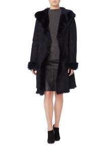Gray & Willow Real shearling long length coat