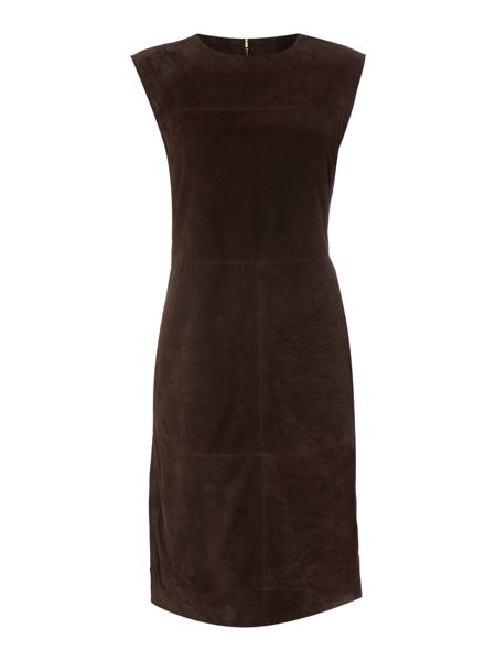 Linea Limited suede panel dress