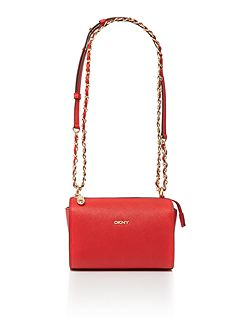 Saffiano red square crossbody bag