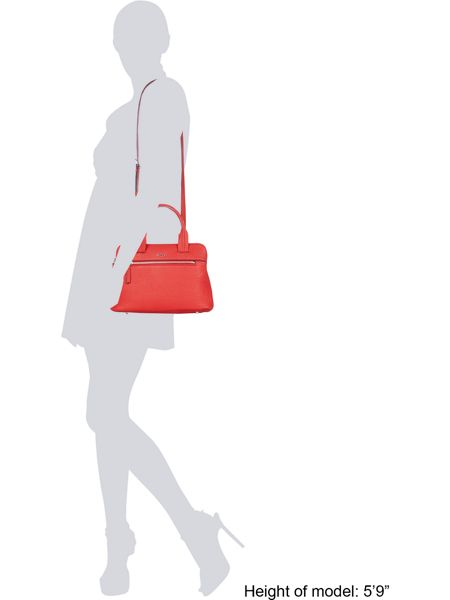 DKNY Saffiano red medium tote bag