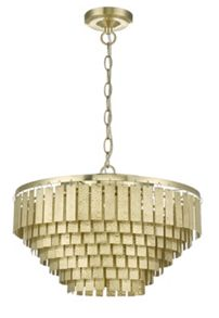Living by Christiane Lemieux Robin Embossed Brass Chandelier