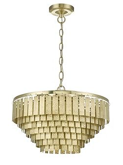 Robin Embossed Brass Chandelier