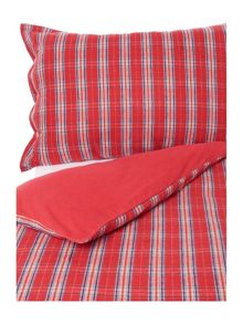 Linea Patterson check flannel duvet cover set