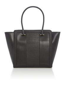 Love Moschino Moc croc black tote bag