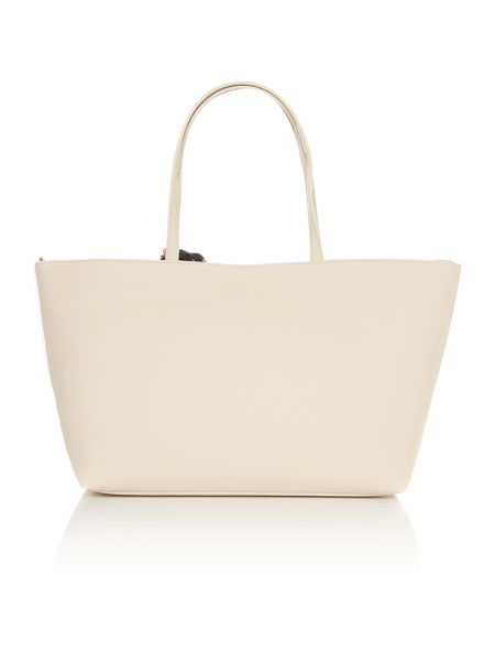 Love Moschino Scarf ivory large tote