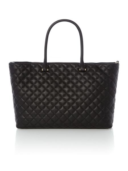 Love Moschino Quilt patchwork black large tote