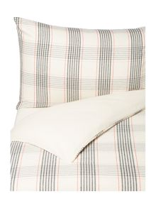 Linea Kyla check flannel duvet cover set