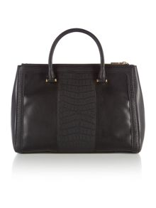 Love Moschino Moc croc black print tote bag