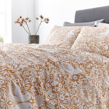 Living by Christiane Lemieux Citrine bird print duvet cover