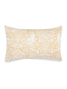 Living by Christiane Lemieux Citrine bird print pillowcase pair
