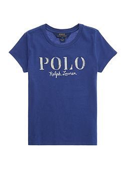 Girls Polo Logo crew neck t-shirt