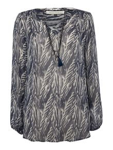 Maison De Nimes Northshore Necklace Blouse