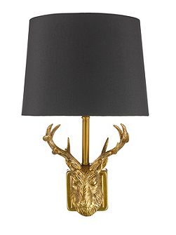 Stag wall light