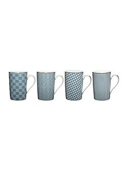 Mai porcelain mugs set of 4